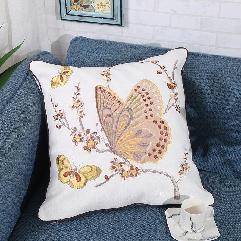 繡花繡片抱枕 5