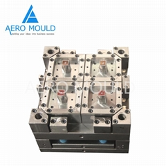 Disposable plastic aviation cup crate mould