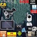 Wireless Security System 64GB Cameras