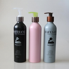 custom hot sale fancy 250 ml cosmetic aluminum bottles