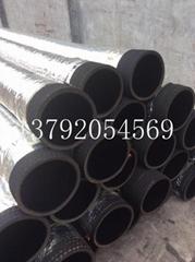 16寸疏浚抗旱專用吸水抽沙橡膠鋼絲管