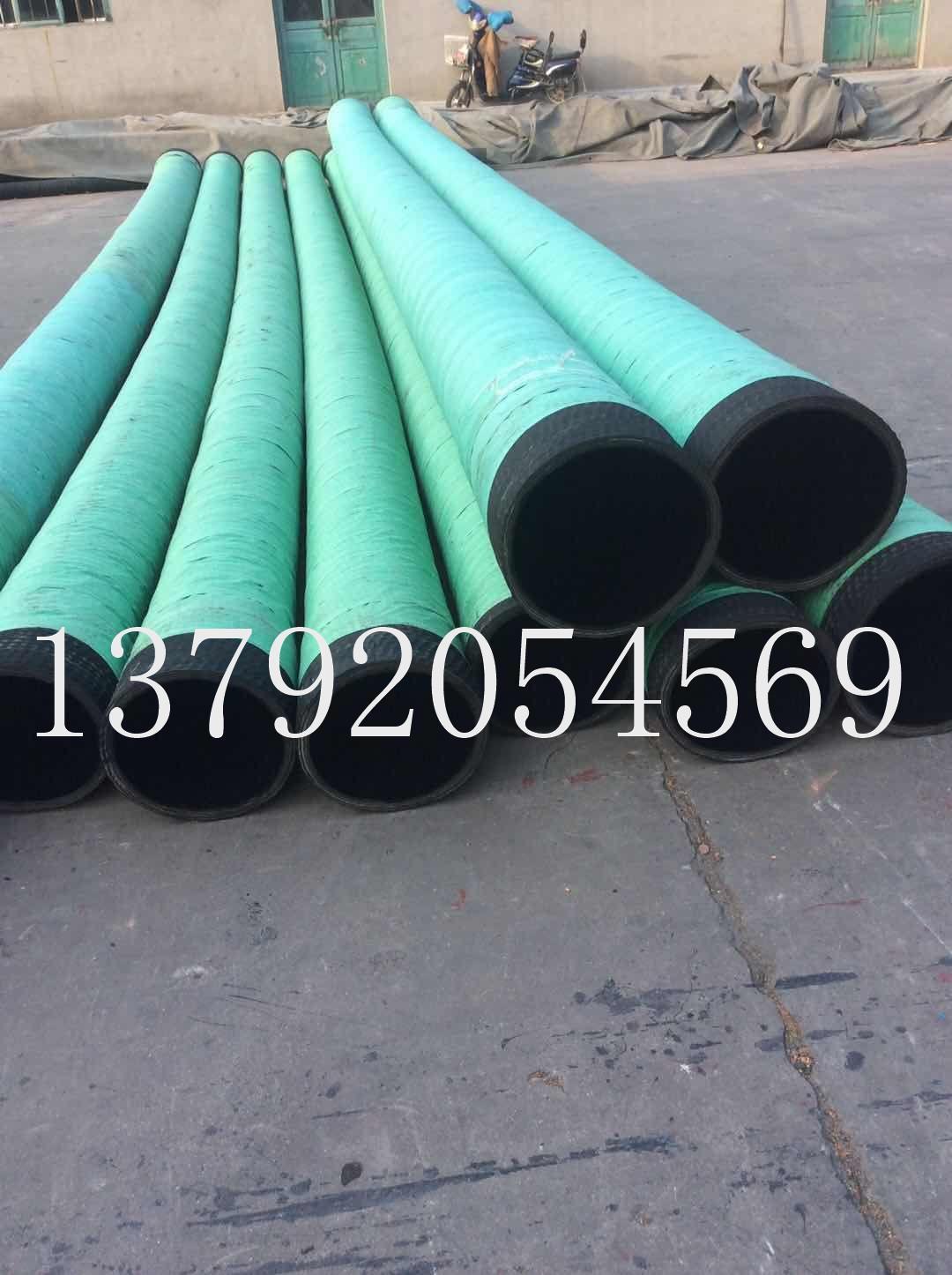 16寸疏浚抗旱專用吸水抽沙橡膠鋼絲管 4