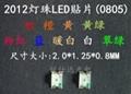 深圳0805贴片白光LED发光