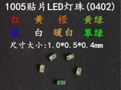 銳仕達光電最小LED貼片0402紅色發光二極管