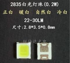 2835自然白光LED發光二極管  120LM