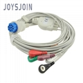Datex 5 lead 3lead ecg cable snap/clip