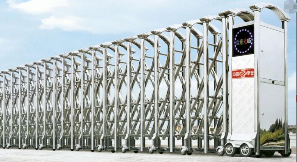 不鏽鋼電動伸縮門中國龍一號 4