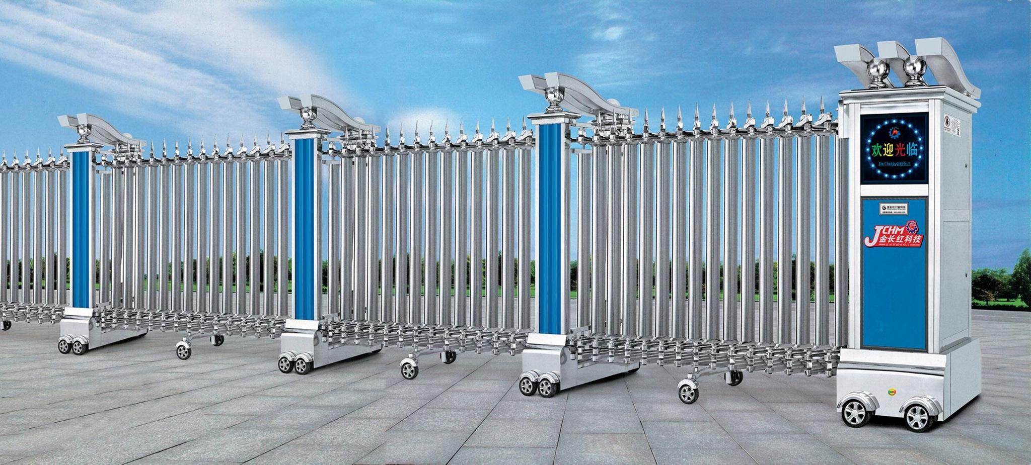 不鏽鋼電動伸縮門中國龍一號 5