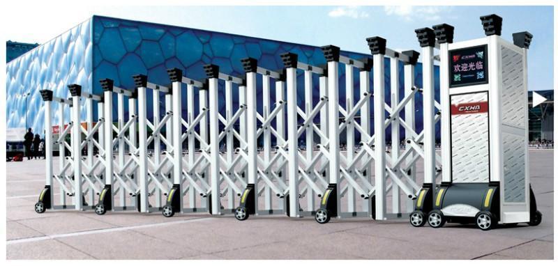 不鏽鋼電動伸縮門中國龍二號 2