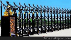 不锈钢电动伸缩门中国龙三号
