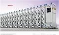 不锈钢电动伸缩门中国龙三号 4