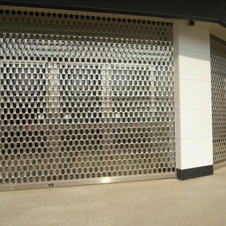 不鏽鋼管水晶捲簾門 2