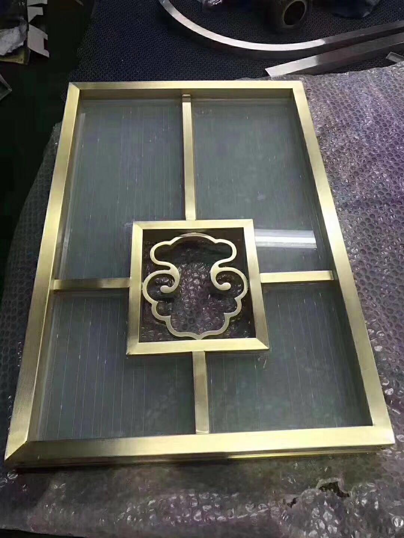 不鏽鋼金色拉絲如意屏風 1