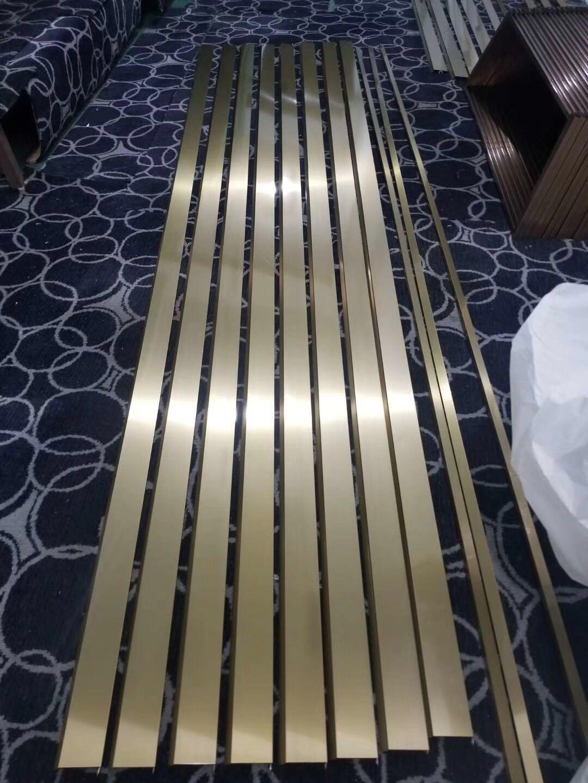 不鏽鋼金色拉絲如意屏風 3