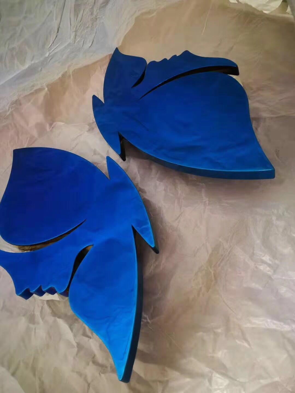 不鏽鋼拉絲寶石藍制品 1