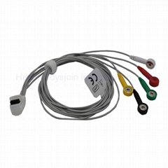 Mortara holter 5 lead ecg cable snap type