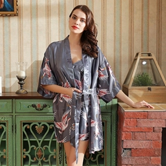 Satin Kimono Bathrobe Women Bride Bridesmaid Wedding Robe Dress Gown Sleepwear