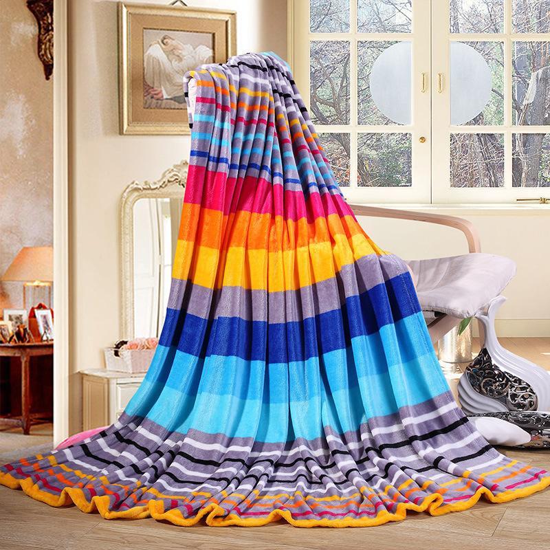 Coral Fleece blanket home Beautiful blanket warm winter sofa travel blankets 2
