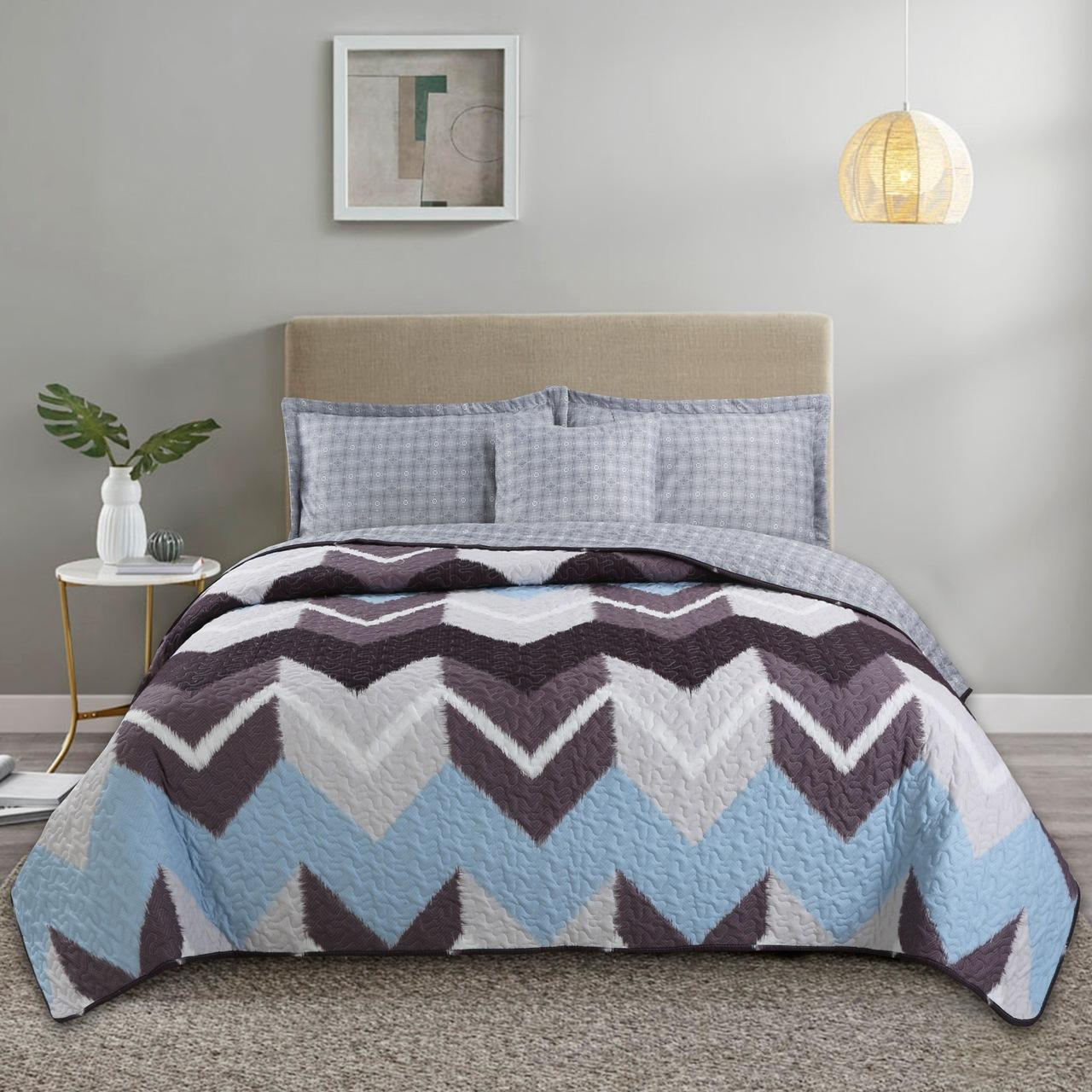American style Quilt Set 3pcs air conditioner Quilts Cotton Quilted Bedspread 3