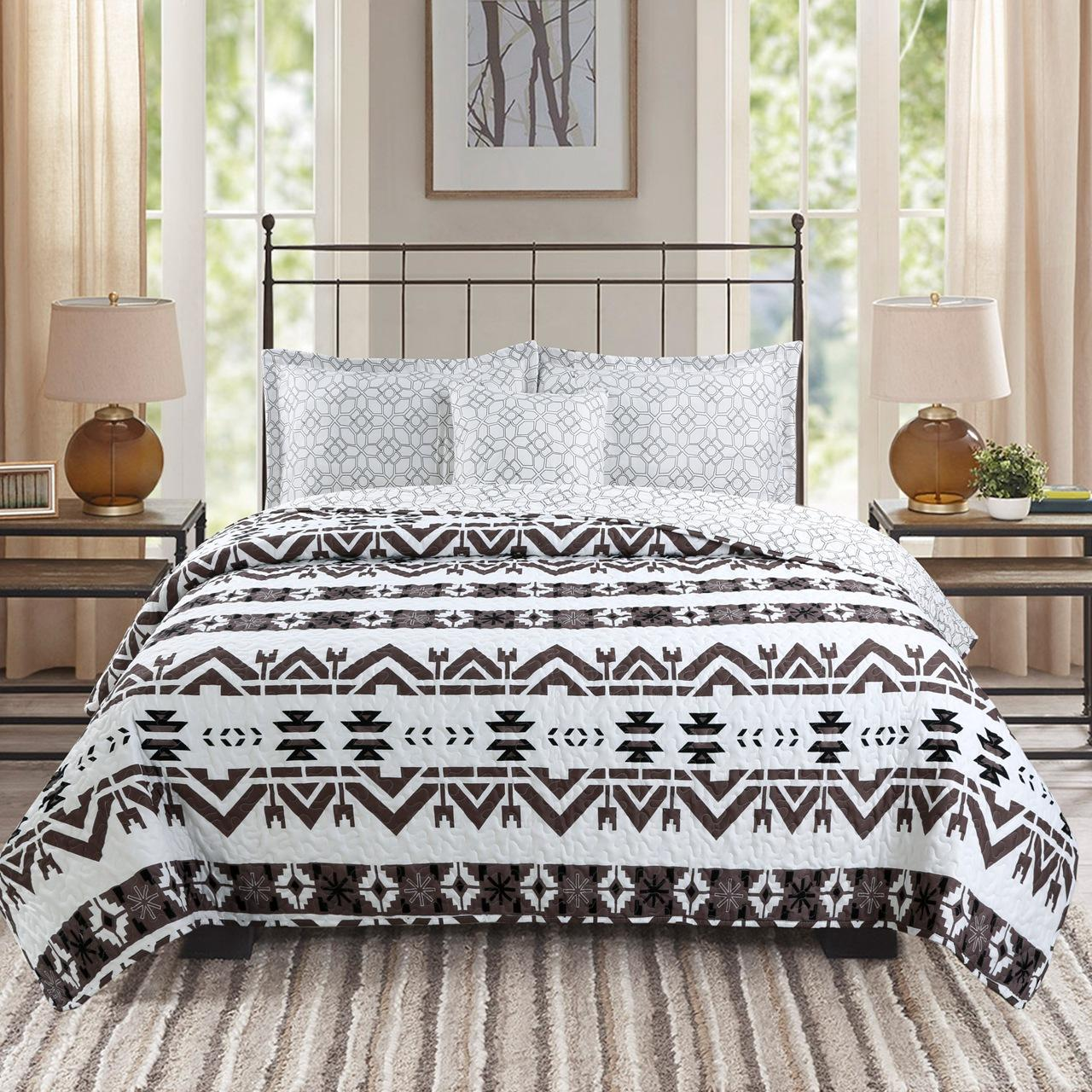 American style Quilt Set 3pcs air conditioner Quilts Cotton Quilted Bedspread 5