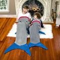 Mermaid Tail shark Blanket Plush Flannel