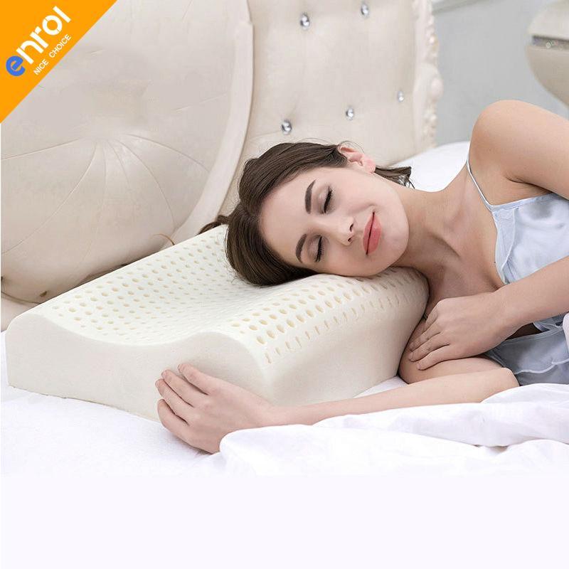 Enrol Natural Latex Pillow Memory Orthopedic Massage Pillow Core For Neck Body F 1