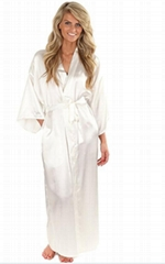 silky bathrobe