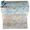 Nonwoven frontal tape raw material for