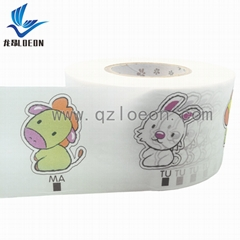 OEM factory cartoon frontal tape raw material disposable baby pants