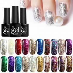 20 Colors Diamond UV Nail Gel Polish Soak-off Full Color Long Lasting Nail Art