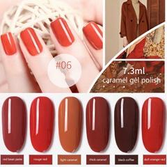 Nail Gel Polish Caramel Color Soak Off UV LED Gel Polish Barbie