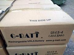 玩具及應急燈用蓄電池4V4.5AH