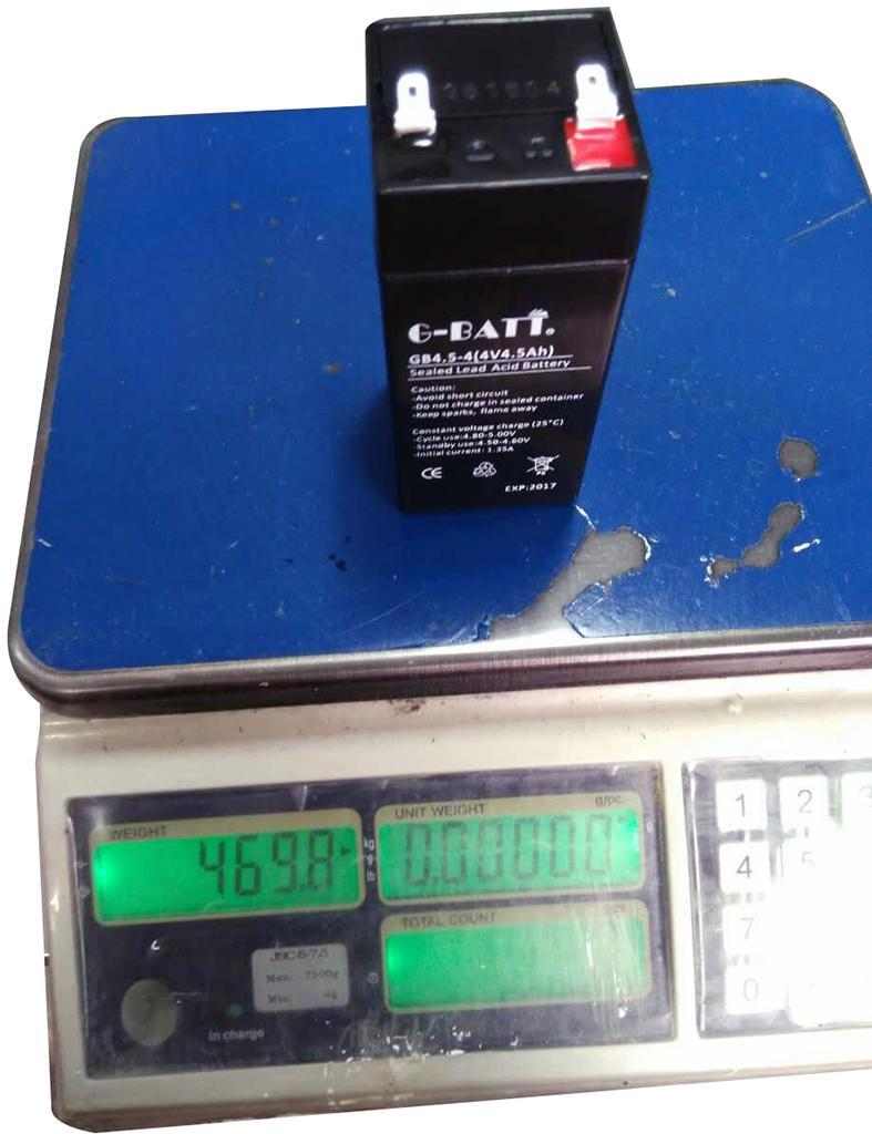 玩具及應急燈用蓄電池4V4.5AH 3