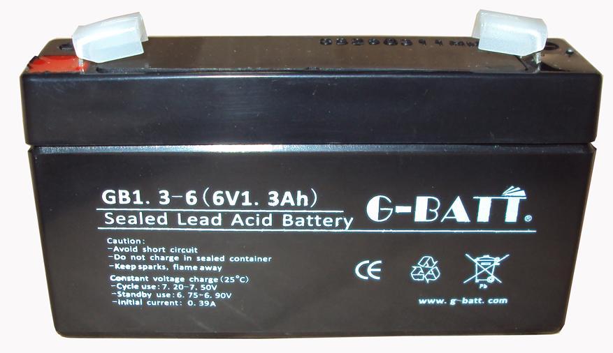 6V1.3AH免維護鉛酸電池,電子秤考勤機充電電池 1