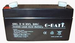 6V1.3AH免维护铅酸电池,电子秤考勤机充电电池