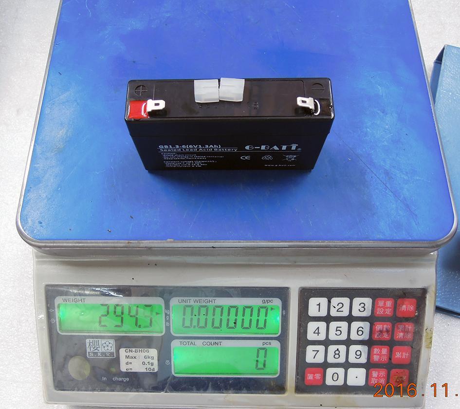 6V1.3AH免維護鉛酸電池,電子秤考勤機充電電池 4
