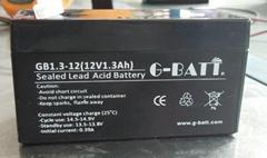 12V1.3AH/20HR蓄電池門禁備用電源擴音器報警器電池12伏電瓶1.3AH