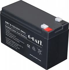 安防噴霧器車位鎖UPS等用蓄電池12V7Ah