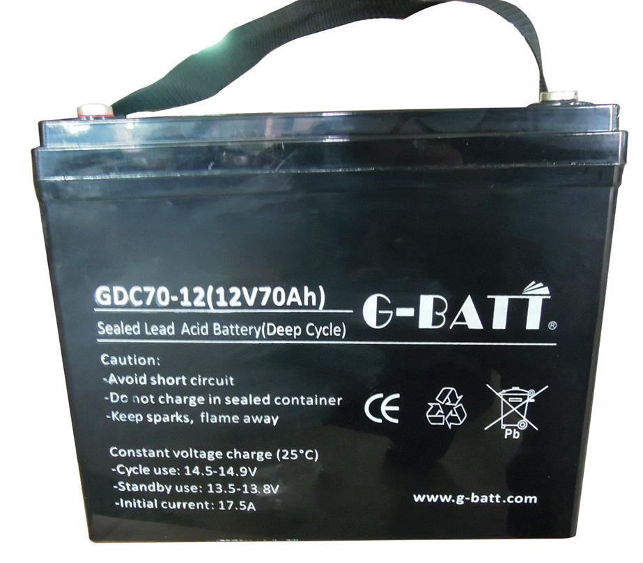 深循環鉛酸蓄電池12V70AH 1