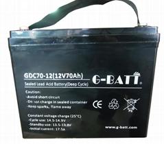 深循環鉛酸蓄電池12V70AH