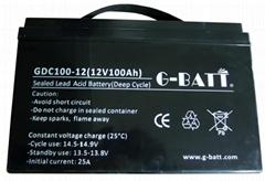 太陽能風能用鉛酸蓄電池12V100AH