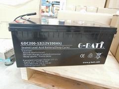 深循环免维护太阳能能电池12V200AH