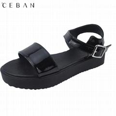 women platform sandals pvc cemented outsole shoes
