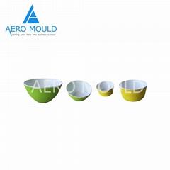 Double color food grade plastic fruit bowl mould