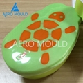 Double color plastic lunch box container injection mold 2