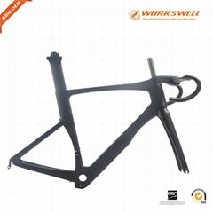 Aero Carbon Bike Road Frame 49 52 54 56 Carbon Fiber Bicycle Frameset+Fork+Seatp