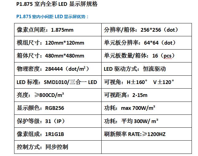 p1.875LED顯示屏定做廠家直銷 2