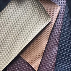 0.7mm pvc artificial leather for car seats with knitted from Jiangyin Longsheng