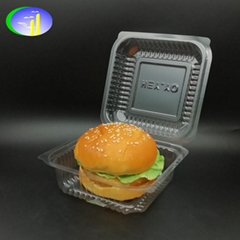 Clear Clamshell plastic burger container