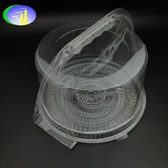 新款PET帶提手塑料蛋糕盒